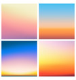 abstract sunset blurred background set vector image