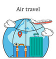 air travel concept image vector image