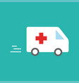 ambulance car - emergency sign - medical vector image