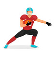 american football character gridiron player vector image vector image