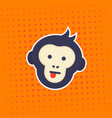 ape monkey showing tongue sticker vector image vector image