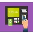 ATM terminal banking vector image