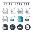 avi file format icon set 12 icon set