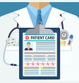 background of white doctors suit vector image vector image