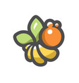 bee apiary honeybee apis cartoon vector image vector image