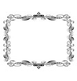 black classic decor frame vector image
