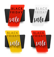 Black Friday Realistic sticker in 3D sale vector image vector image