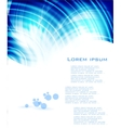 blue card circles on the water vector image vector image
