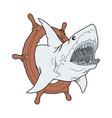 blue shark logo shark shark swimming shark vector image vector image
