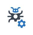 bug fixing icon vector image vector image