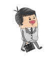 businessman cartoon icon vector image vector image
