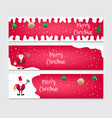christmas banner templatewebsite headers vector image vector image