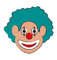 clown face icon image vector image vector image