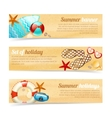 Collection of banners with summer holiday vacation vector image vector image