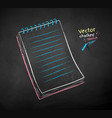color chalk drawing notepad vector image vector image