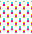 colorful milk ice cream and fruit ice cream on vector image