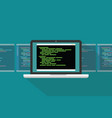 command line interface cli programming language vector image