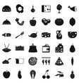 cooking dessert icons set simple style vector image vector image