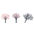 decorative trees set vector image