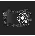 Drawing business formulas atom vector image