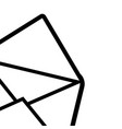 envelope isolated icon black and white vector image