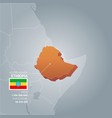 ethiopia information map vector image