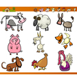 farm animals set cartoon vector image vector image