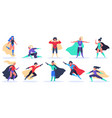 female superheroes superwoman powerful characters vector image vector image