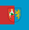 flag of zamosc county in lublin voivodeship of vector image vector image