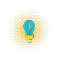 Fluorescence lamp icon comics style vector image vector image