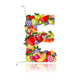 Fruit letter for your design vector image vector image