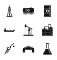 Fuel icons set simple style vector image vector image