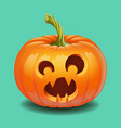 halloween pumpkin face - funny surprised with big vector image vector image