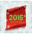 Happy New Year 2016 Paper banner vector image