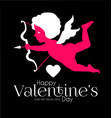 happy valentine s day cute design template with vector image