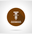 high precision laser brown round icon vector image vector image