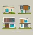 home exterior modern design collections vector image vector image