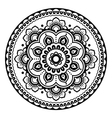 Indian Mehndi Henna floral tattoo round pattern vector image