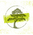 landscape design eco organic tree sign rough vector image vector image