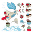 mermaid sweety new year color vector image vector image