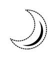moon quarter waning cartoon vector image vector image