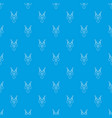 necklace pattern seamless blue vector image vector image