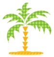 Patchwork palm tree vector image