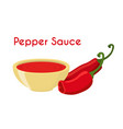 pepper sauce hot chili condiment ketchup vector image vector image