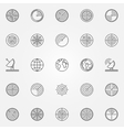 Radar icons set vector image