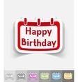 realistic design element Happy Birthday vector image