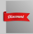 realistic paper banners curved ribbons vector image vector image