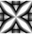 seamless pattern of abstract balck and white vector image