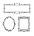 Set of banners Vintage frames vector image vector image