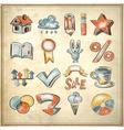 sketch watercolor icon collection vector image vector image